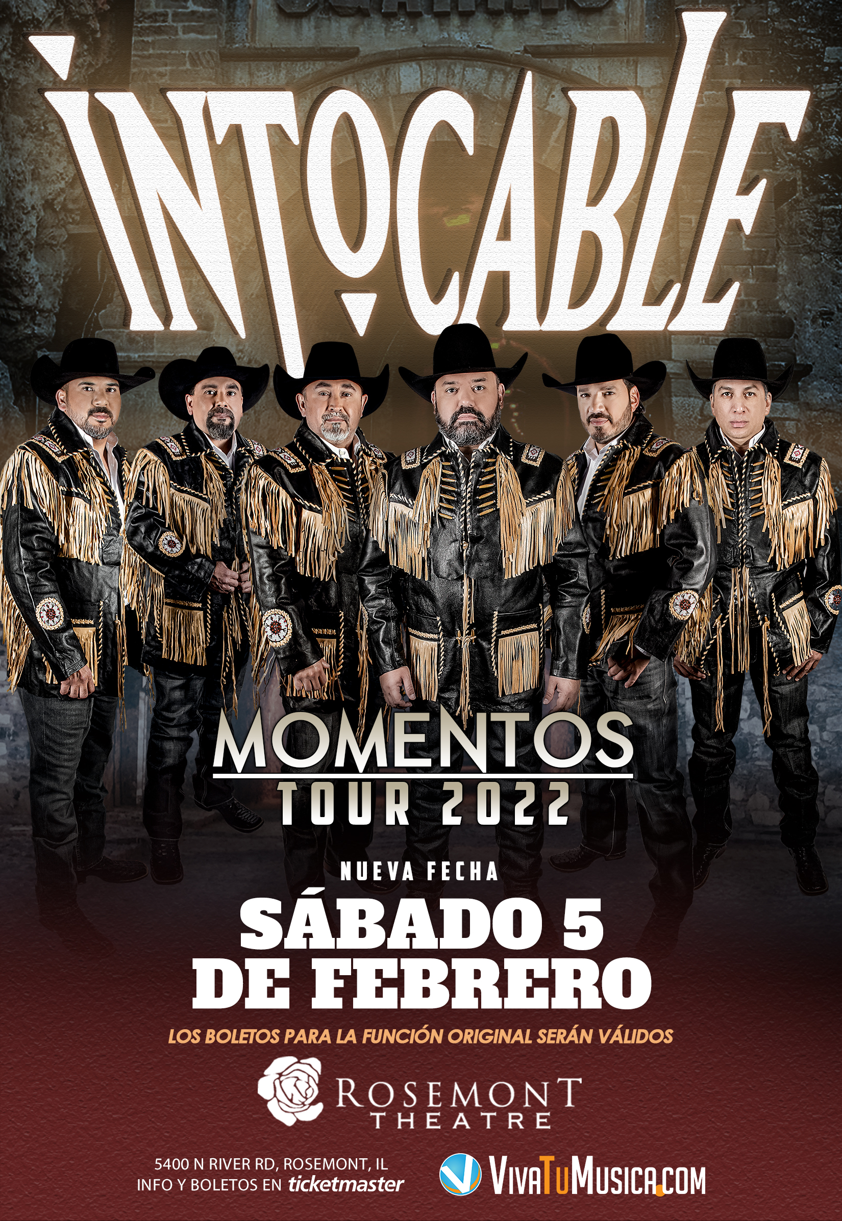 Intocable - Rosemont Theatre @ Rosemont, IL | Rosemont | Illinois | United States