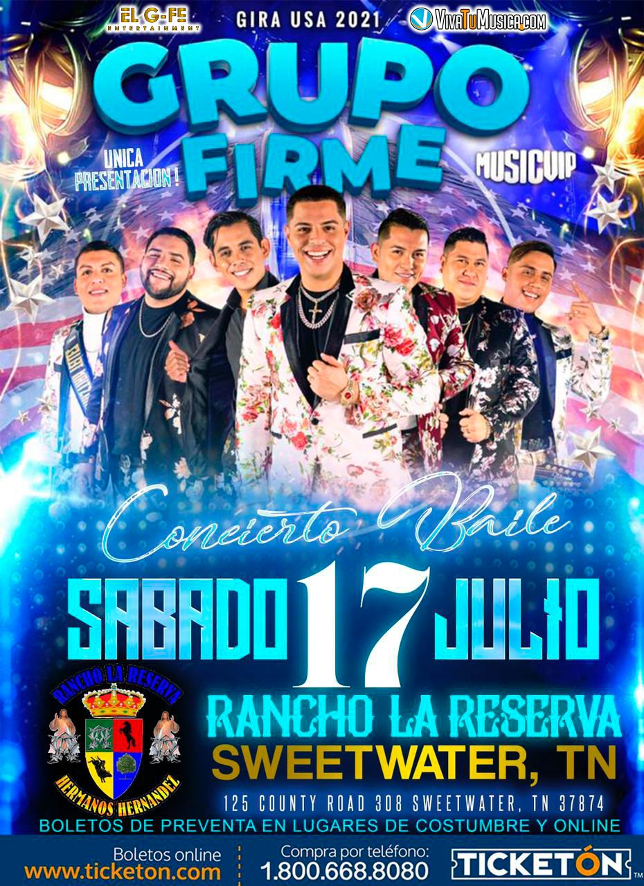 Grupo Firme – Rancho La Reserva @ Sweetwater, TN | Sweetwater | Tennessee | United States