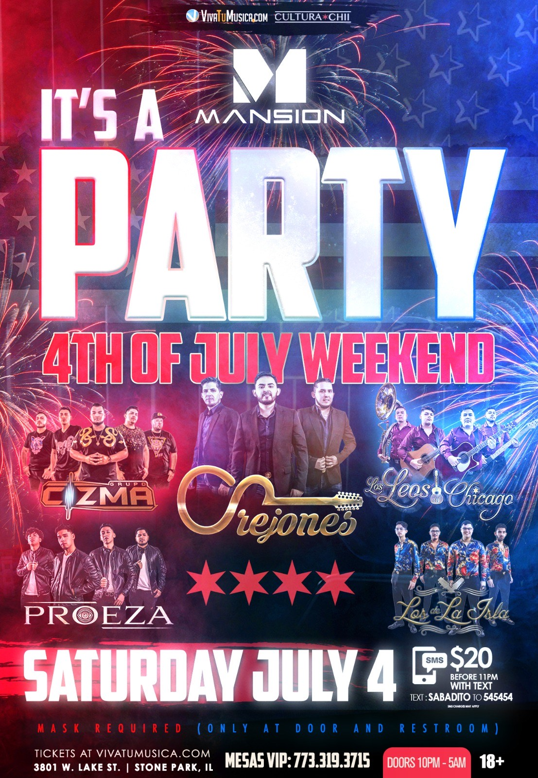 Party 4th of July Weekend - Mansion Nightclub @ Stone Park IL | Melrose Park | Illinois | United States